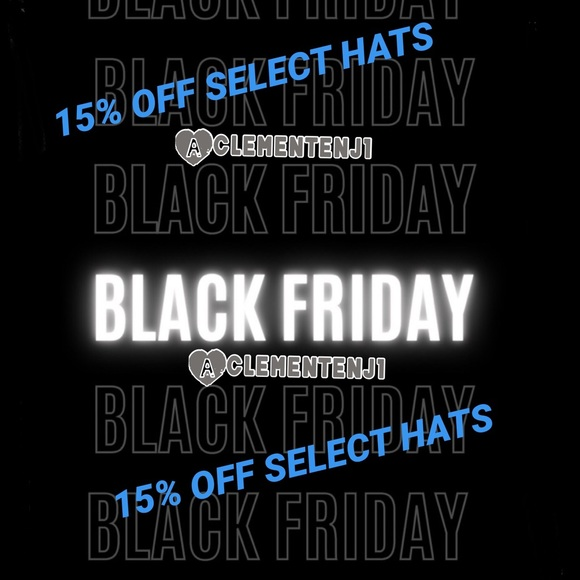 BLACK FRIDAY SALE! 🚨 HATS 15% OFF HATS 🚨